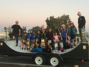 good friends at keen ramps to give the kids of long beach a float they couldnt forget the custom made mini half pipe on wheels was a fun filled float